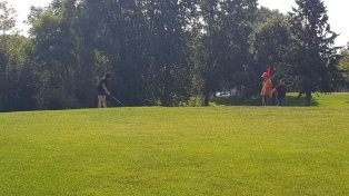 Golfing at Columbia Golf Course
